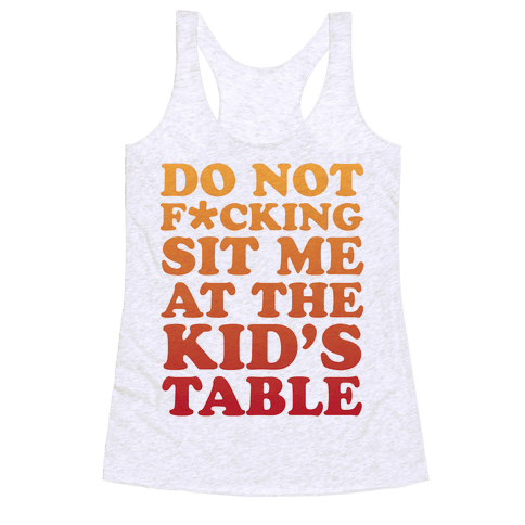 THE KIDS TABLE Racerback Tank Top
