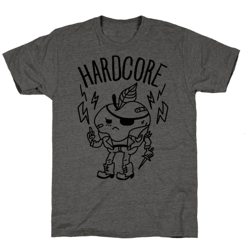 Hardcore Apple Mens T-Shirt