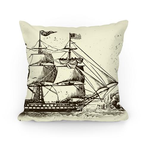 Vintage Ship Pillow
