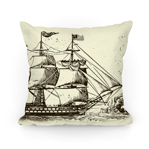 Vintage Ship Pillow