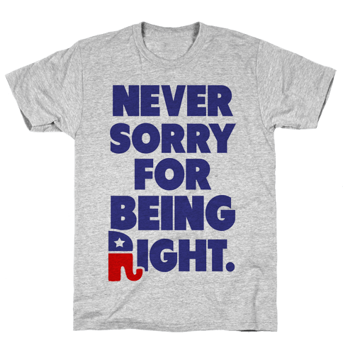 Never Sorry Mens T-Shirt