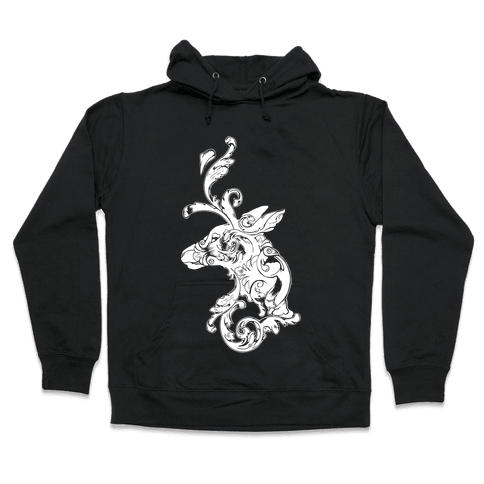 Decorative Deer Head Hooded Sweatshirt
