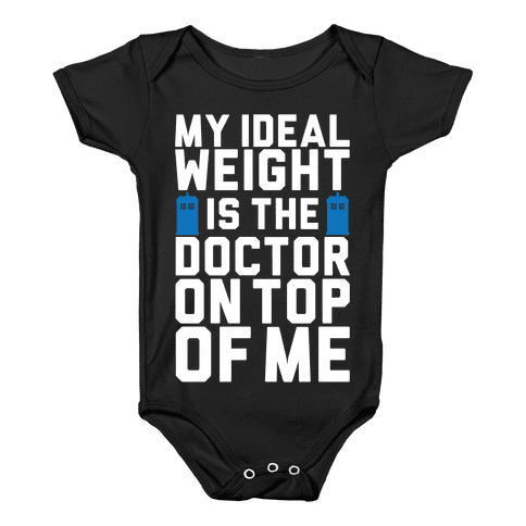 Ideal Weight (Doctor Who) Baby Onesy