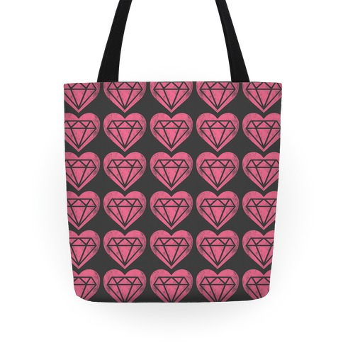 Diamond Heart Pattern Tote