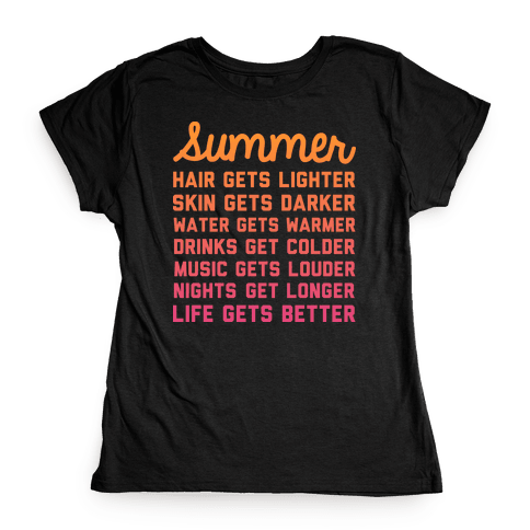 Summer Time Womens T-Shirt