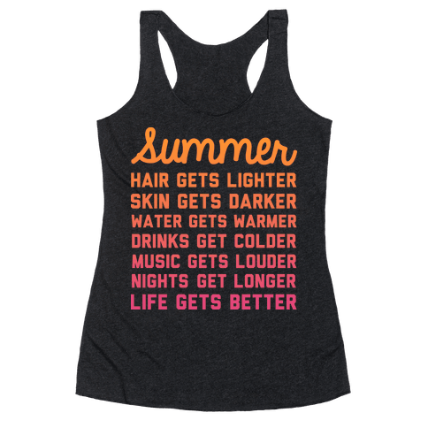 Summer Time Racerback Tank Top