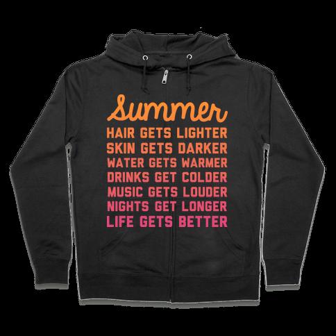 Summer Time Zip Hoodie