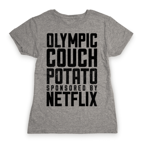 Olympic Couch Potato Womens T-Shirt