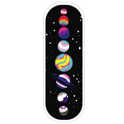 LGBTQ+ Planets Die Cut Sticker