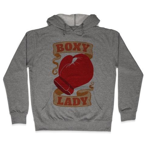 Boxy Lady Hooded Sweatshirt