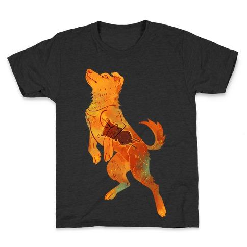 Astronaut Dog Zvezdochka Kids T-Shirt