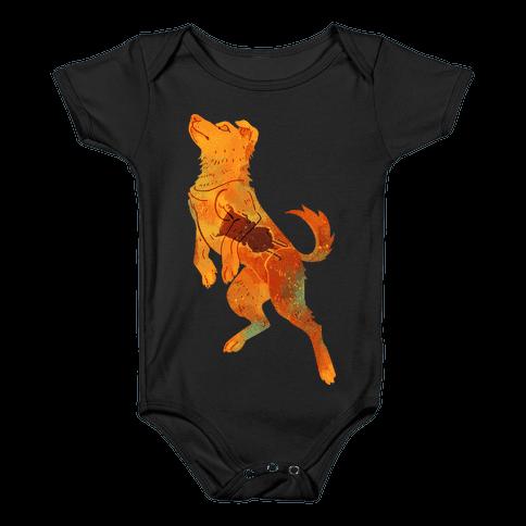 Astronaut Dog Zvezdochka Baby Onesy