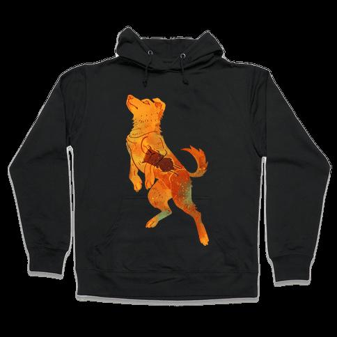 Astronaut Dog Zvezdochka Hooded Sweatshirt