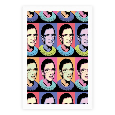 RBG Pop Art Pattern Poster