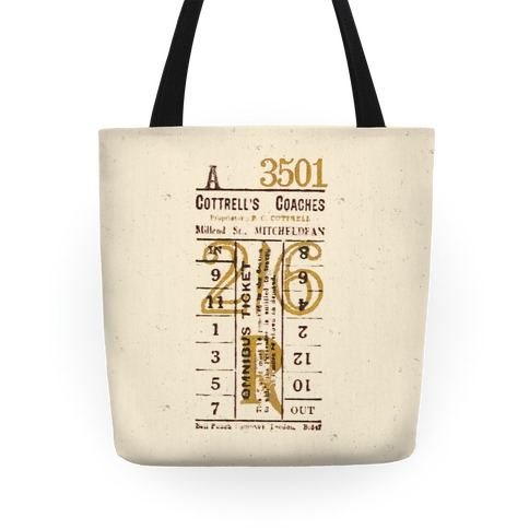 Vintage Punch Ticket Tote