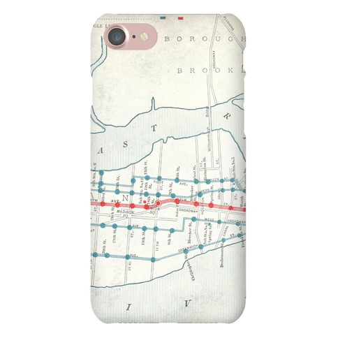 Vintage New York City Map Phone Case