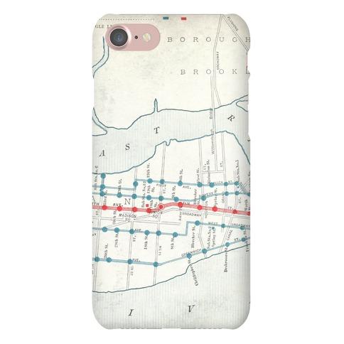 Vintage New York City Map Phone Case