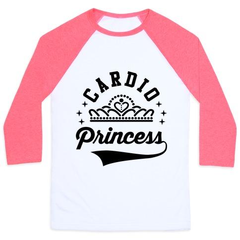 Cardio Princess Baseball Tee