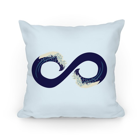 Ocean Infinity (Dark Blue) Pillow