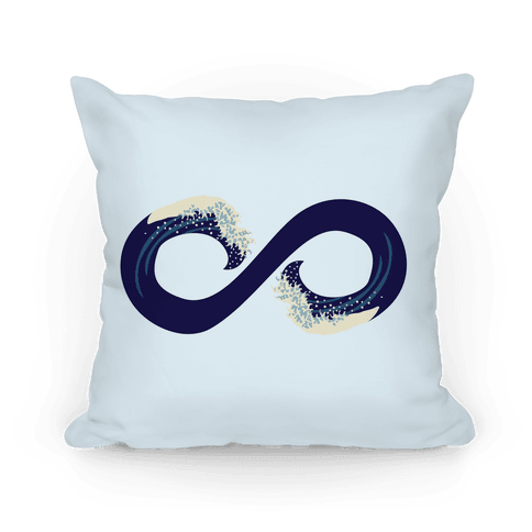 Ocean Infinity (Dark Blue) Pillow