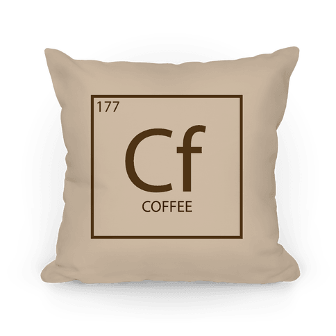 Coffee Periodic Element Pillow