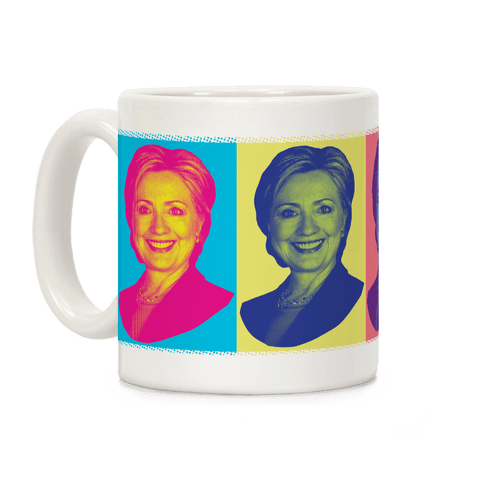 Pop Art Hillary Clinton Coffee Mug