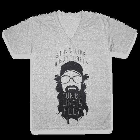 Sting Like a Butterfly (Tank) V-Neck Tee Shirt