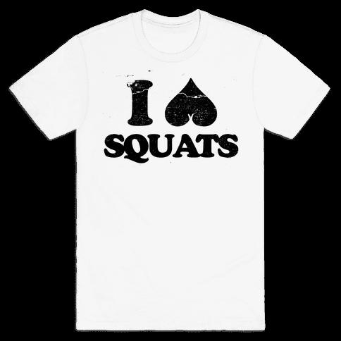 I Love Squats Mens T-Shirt