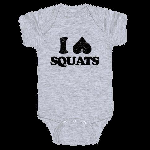 I Love Squats Baby Onesy