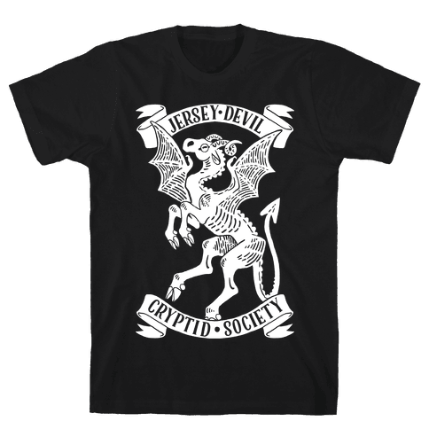 Jersey Devil Cryptid Society Mens T-Shirt