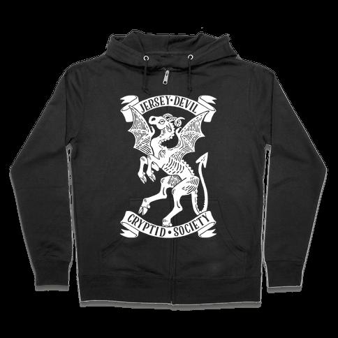 Jersey Devil Cryptid Society Zip Hoodie