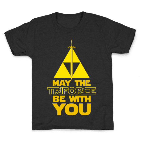 May The Triforce Be With You Kids T-Shirt