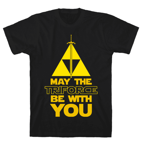 May The Triforce Be With You Mens T-Shirt
