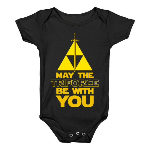 May The Triforce Be With You Baby Onesy