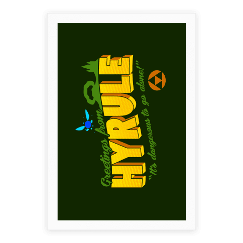 Greetings From Hyrule Poster