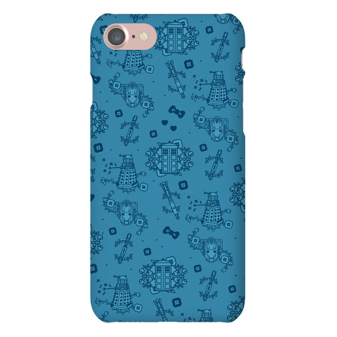 Doctor Who Pattern Toile Phone Case
