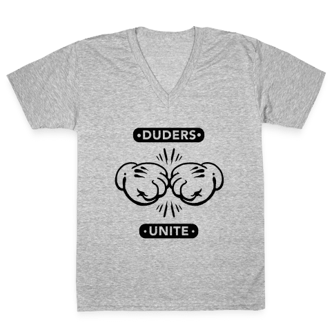 Duders Unite V-Neck Tee Shirt
