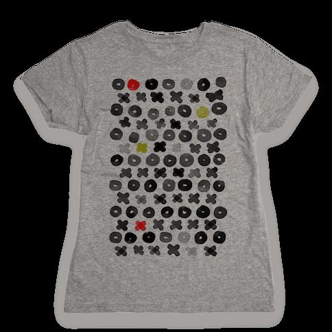 XOXO Hugs and Kisses Pattern Womens T-Shirt
