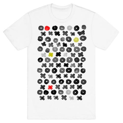 XOXO Hugs and Kisses Pattern T-Shirt