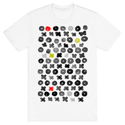 XOXO Hugs and Kisses Pattern Mens T-Shirt