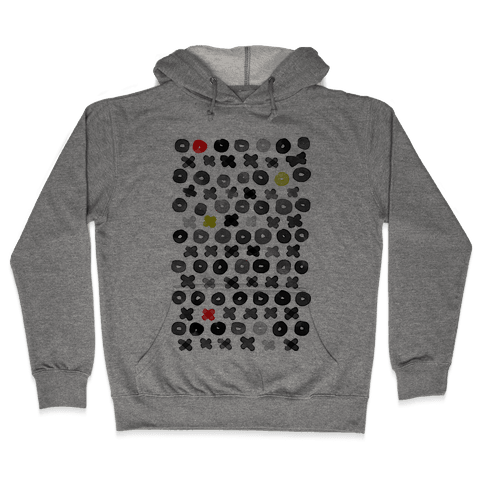 XOXO Hugs and Kisses Pattern Hooded Sweatshirt