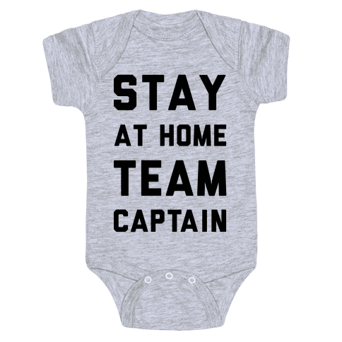 Stay At Home Team Captain Baby Onesy