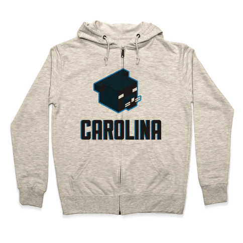 Carolina Blocks Zip Hoodie