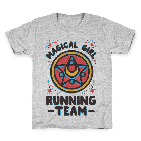 Magical Girl Running Team Kids T-Shirt