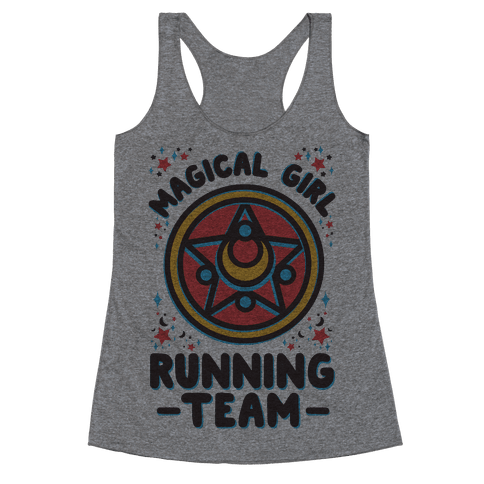 Magical Girl Running Team Racerback Tank Top