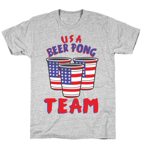 USA Beer Pong Team Mens T-Shirt