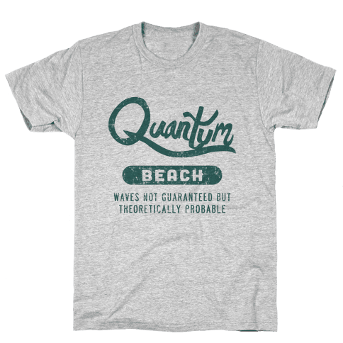 Quantum Beach - Waves Probable Mens T-Shirt