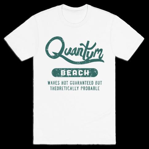 Quantum Beach - Waves Probable Mens T-Shirt
