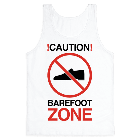 !Caution! Barefoot Zone Tank Top