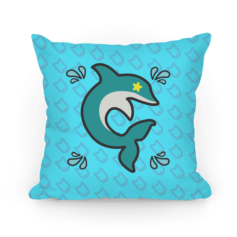 Splash Free! Haruka Mascot Pattern Pillow